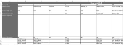 Export spreadsheet